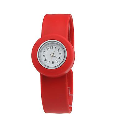 braccialetto in silicone morbido cinturino per i bambini (rosso)