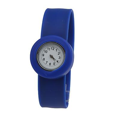Children's Waterproof Quartz Tape Bracelet Watch with Blue Band