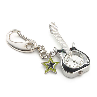 Unique Guitar PC Quartz Keychain Watch (Black)