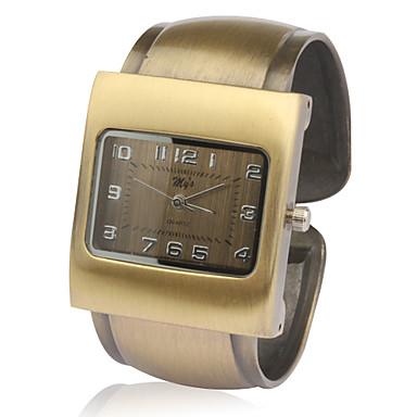 reloj análogo unisex de cuarzo de bronce carcasa de aleación de banda de pulsera
