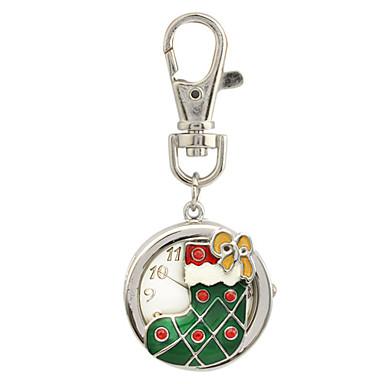 활과 크리스마스 부팅 키 체인 시계