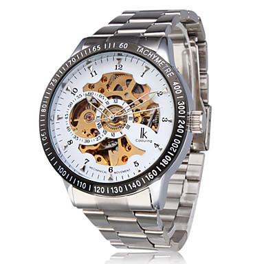 Automatik Herren Uhr im Weiß Gold Stil
