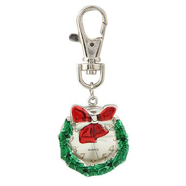 Christmas Wreath Keychain Watch