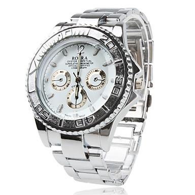 Men's Wrist watch Quartz Stainless Steel Band Silver Gold