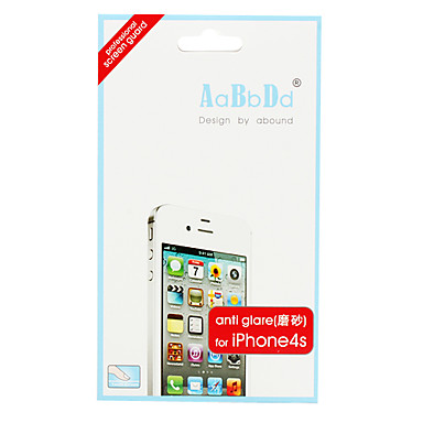 Anti-glare Screen Guard Protector with Cleaning Cloth for iPhone 4S