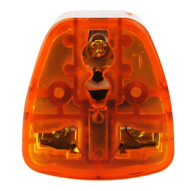 South Afica To All Standard Travel Adapter(10A-250V ,Orange and Gray)