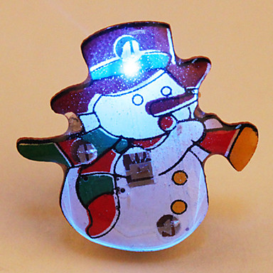 Cartoon LED Flashing Magnetic Badge (Snowman)