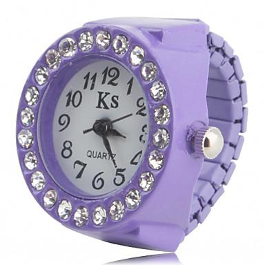 b5be8edbecc6 Mujer Reloj de Anillo Reloj de Pulsera Reloj de diamantes Japonés Cuarzo  Negro   Blanco   Rosa La ...