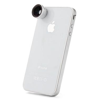 Avtagbart 0,67x Vidvinkelobjektiv för iPhone 4/ 4S, Nya iPad och Samsung i9220 (blå film)