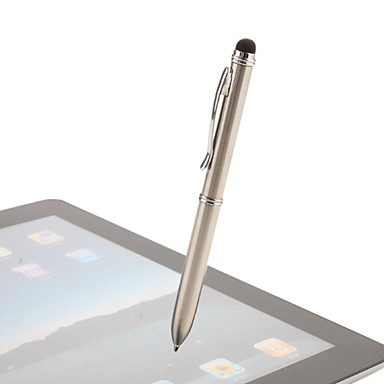 Genuine iPega Stylus for iPad, iPhone with Dual-Colored Ballpoint Pen (Silver)