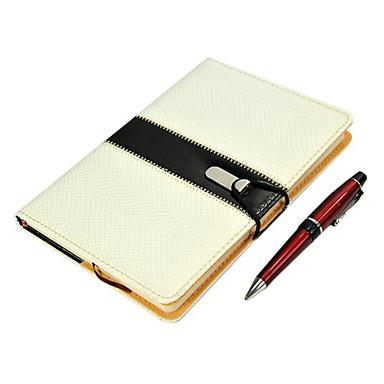 negócio notebook estilo couro (branco)