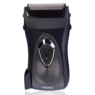 POVOS Dual Blade Cordless Foil Shaver with Built-in AC Plug