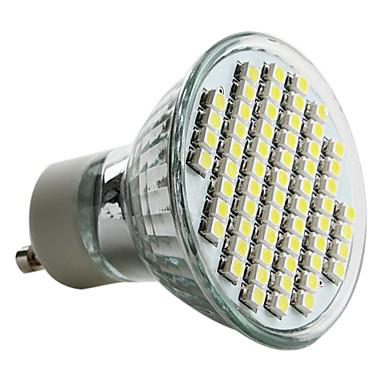 6000lm GU10 LED Spot Işıkları MR16 60 LED Boncuklar SMD 3528 Doğal Beyaz 220-240V