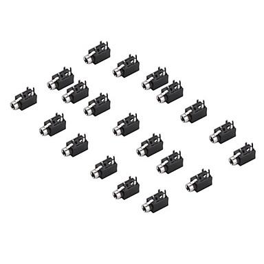 PJ-2510 estéreo de 2,5 mm jack de audio para la electrónica DIY (20 piezas por paquete)