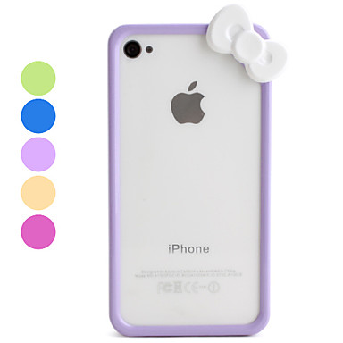 Cartoon stil Zadnji poklopac for iPhone 4 and 4S (Assorted Colors)
