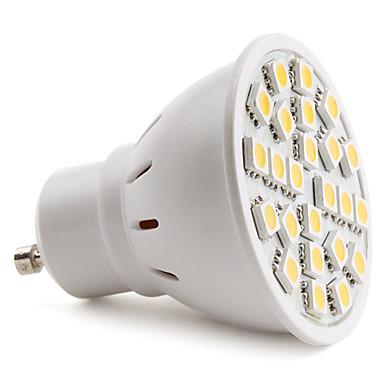 150 lm GU10 LED Spotlight MR16 24 leds SMD 5050 Warm White AC 220-240V