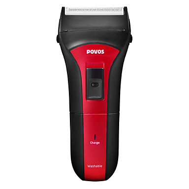 Povos Fully Washable Rechargeable Single Blade Foil Shaver