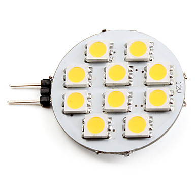 2700 lm G4 Spot LED 10 diodes électroluminescentes SMD 5050 Blanc Chaud DC 12V
