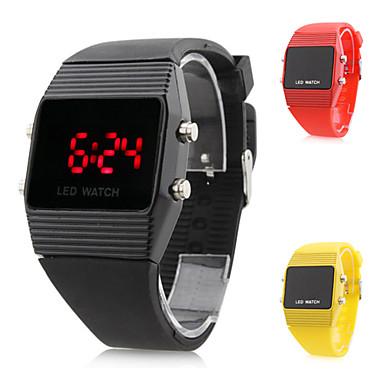 Unisex Silikone Digital LED Armbåndsur (Blandede Farver)