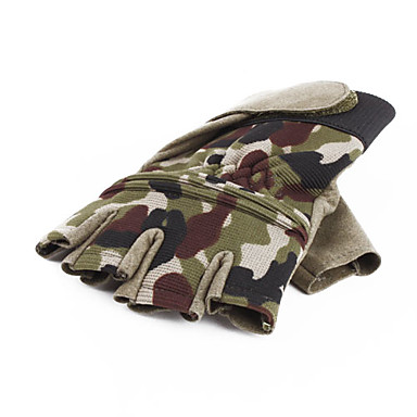 Military Army Styled Half Fingers Gloves