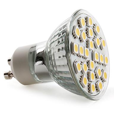 2800 lm GU10 LED Σποτάκια MR16 24 leds SMD 5050 Θερμό Λευκό AC 220-240V