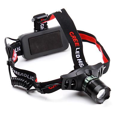 3 modes zoom Cree XR-E Q5 LED projecteur avec la lumière du réchauffement rouge (280LM)