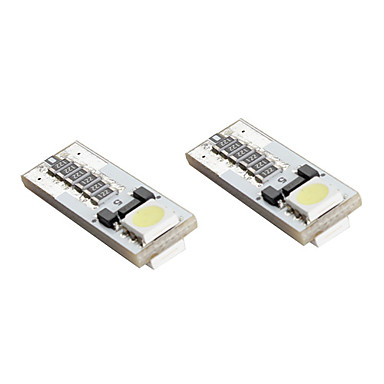 T10 2*5050 SMD White LED CANBUS Car Signal Lights (2-Pack, DC 12V)