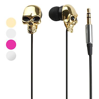 casque 3,5 mm dans l'oreille tout-en-1 style de crâne métallique pour iPhone 6 / iphone 6 plus (couleurs assorties)