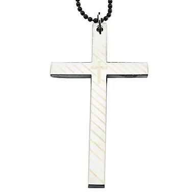 Alloy Cross Pattern Necklace (Silver)