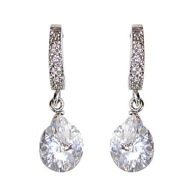 Kadın's Küpe Kübik Zirconia Moda Platinum Düzensiz Mücevher Günlük Kostüm takısı