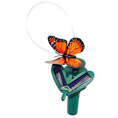 Solar Powered Flying Fluttering Monarch Butterfly for Garden Plants (Random Colors)