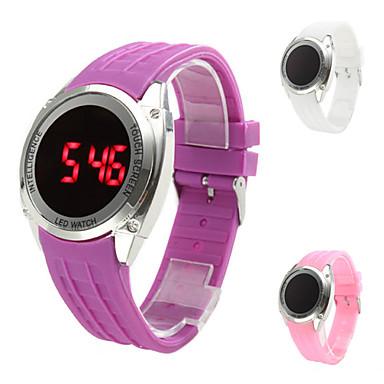 los hombres de silicona informal táctil digital ha llevado a reloj de pulsera (colores surtidos)