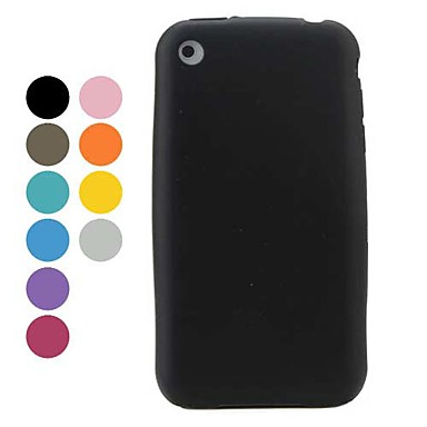 Simple Style Silicon Soft Case for iPhone 3G and 3GS (Assorted Colors)