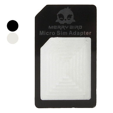Micro Sim Adapter, Carrier, Holder for iPhone 4 and 4S (Assorted Colors)