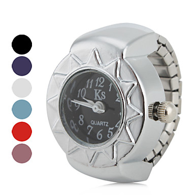 Women's Ring Watch Japanese Quartz Silver Casual Watch Ladies Vintage - Red Blue Pink