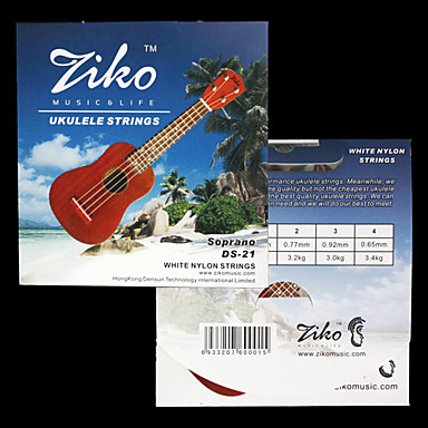 ZIKO - (DS-21) High-Grade White Nylon Soprano Ukulele Strings (060-065)