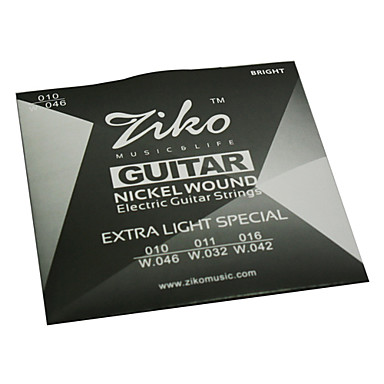 ZIKO - High-Grade Nickel Wound Electric Guitar Strings (010-046)