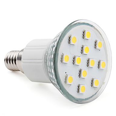 3W E14 LED Spot Işıkları MR16 12 SMD 5050 150 lm Sıcak Beyaz AC 220-240 V