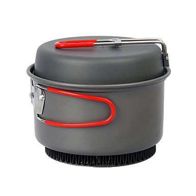 2PCS Hard Anodiezed Camping Cookset(1.2L Pot+6Inch Pan)
