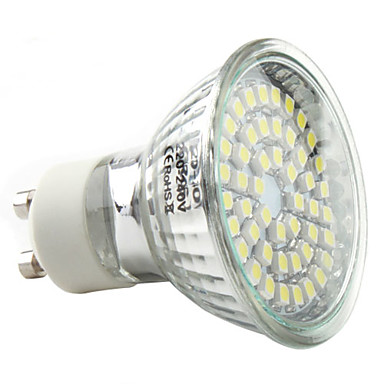 3W 250-300 lm GU10 LED Spotlight MR16 48 leds SMD 3528 Natural White AC 220-240V