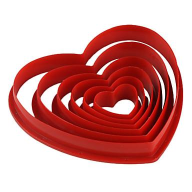 Pişirme Kalıp Kalp Tart Kurabiye Kek Plastik Çevre-dostu Kendin-Yap Sevgililer Günü
