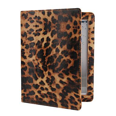 leopardo pele estojo de couro pu com suporte para iPad 2/3/4 (cores sortidas)