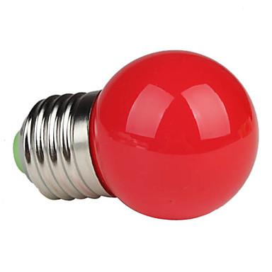 1pc 1 W 80-100 lm E26 / E27 LED Küre Ampuller G45 3 LED Boncuklar Yüksek Güçlü LED Kırmızı 220-240 V