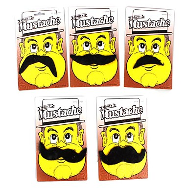 Costume Party Mustache Toy (Black, Random Styles)