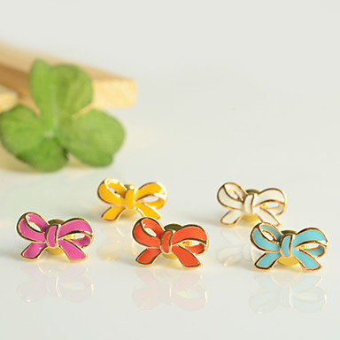 Bowknot and Heart Pattern Earrings (2 Pairs)
