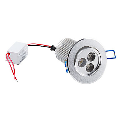 9 W 3 High Power LED 900 LM Warm White Recessed Retrofit Ceiling Lights AC 85-265 V