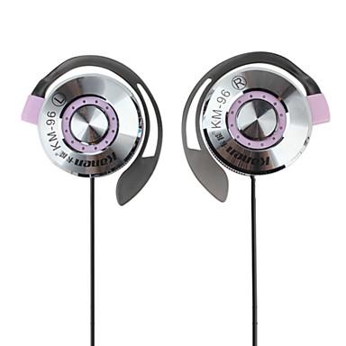 kanen stéréo clip-on écouteurs avec microphone et contrôle du volume (violet)