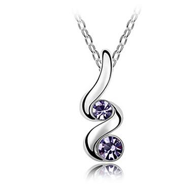 legering och kristall attraktiv design platina halsband (köp 1 få 2 gratis gåvor)