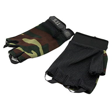 Leisure Sports Cycling Short Finger Polyester Gloves