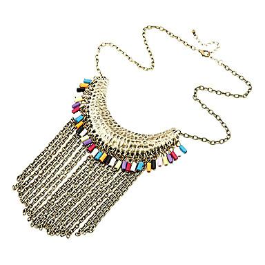 Fashion Retro Colorful Tassels Necklace